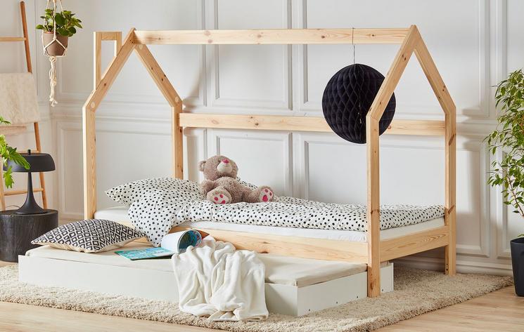 pinio-łóżko-domek