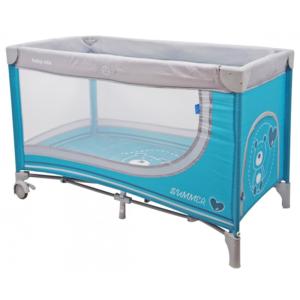 baby-mix-łóżeczko-jednopoziomowe-blue-miś-HR-8052-194