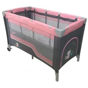 baby-mix-łóżeczko-turystyczne-dwupoziomowe-pink-koty-HR-8052-2