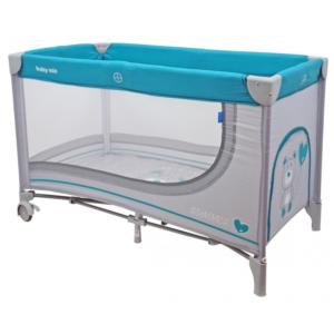 baby-mix-łóżeczko-turystyczne-jednopoziomowe-light-grey-miś-HR-8052-192