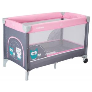 baby-mix-łóżeczko-turystyczne-jednopoziomowe-pink-sowa-HR-8052-176