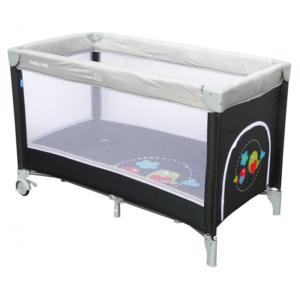 baby-mix-łóżeczko-tutystyczne-jednopoziomowe-dark-grey-ptaszki-HR-8052-185